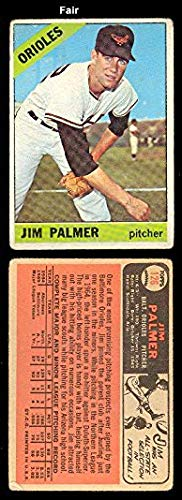 1966 Topps Regular (Baseball) Card# 126 Jim Palmer of the Baltimore Orioles Good Condition