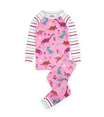 Hatley Girls' Little Organic Cotton Long Sleeve Printed Pajama Sets, Darling Dinos, 4 Years]()