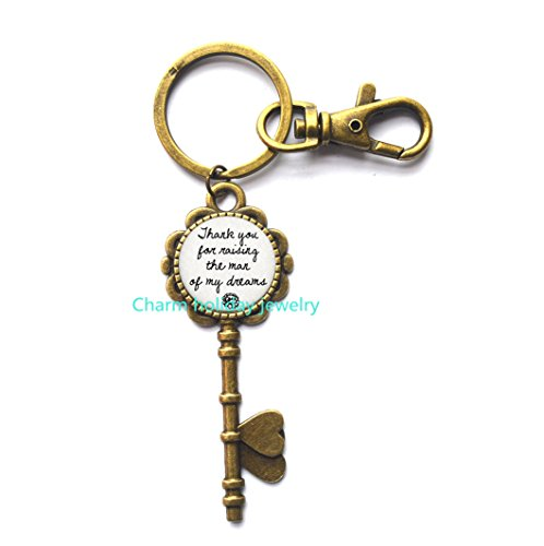 Thank You for raising the man of my dreams Key Keychain Wedding Gift for Key Keychain for Mother In Law Jewelry Grooms Mom Mother,thank you gift Key (Thank You Wedding Keychains)