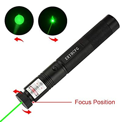 ERYHCFG Tactical Green Hunting Rifle Scope Sight Laser Pen Demo Remote Pen Pointer Projector Travel Outdoor Flashlight LED Interactive Baton Funny Laser Toy