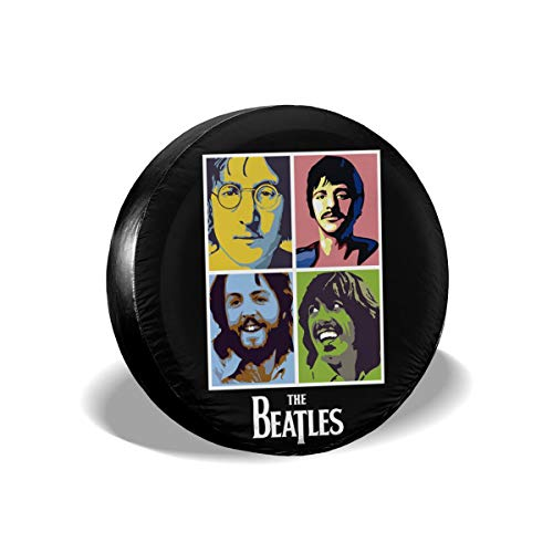 The Beatles Band Music-John Lennon Imagine Spare Tire Cover Waterproof Dust-Proof Universal Spare Wheel Tire Cover Fit for Jeep,Trailer, RV, SUV and Many Vehicle 14
