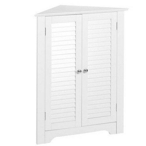 Annapolis 3-Shelf Corner Free Standing Cabinet, White (Cabinet Annapolis)