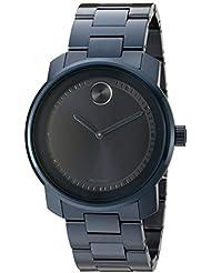 Movado Mens 3600296 Analog Display Swiss Quartz Blue Watch