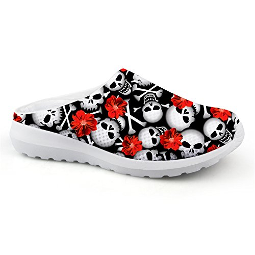 Lightweight Punk Print Slip Outdoor Loafers Sandals Skull Skull5 Bigcardesigns Female ons wfcZ7R5WqX