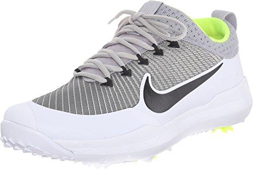 (Nike New Mens FI Premiere Golf Shoes Silver/Black/White Size 8 W)