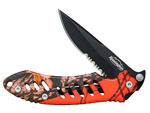 Remington Cutlery R19767 F.A.S.T. Large Folder Knife with Black Oxide Finish Serrated Blade, 5-Inch, Mossy Oak Blaze