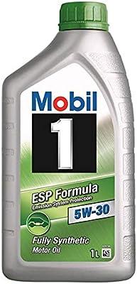 Mobil 1 ESP Formula 5W-30-Lubricante Motor Automóvil, 1 l: Amazon ...