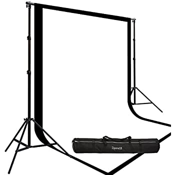 Two Prism By Ravelli 9' X 15' Cotton Muslin Backdrops and The Ravelli Full Size 10' x 12' Background Stand Set