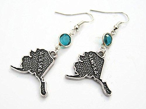 alaska-birthstone-earrings-personalized-us-state-map-earrings-geography-jewelry-upper-peninsula-gift