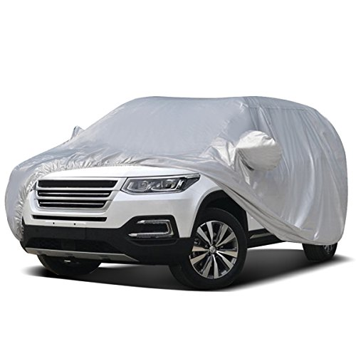Dash Storm Cover - Audew Car Cover SUV Cover Car Snow Cover Waterproof/Windproof/Dustproof/Scratch Resistant Outdoor UV Protection Full Car Covers for SUV Car XXL (201''-212'')