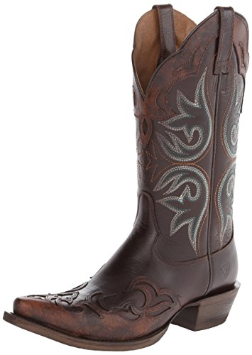 Ariat Women's Haven Wingtip Boot,Brown,8 B - Tooled Wingtip
