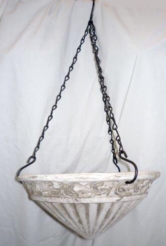 Wide Hanging Terra Cotta Cone Pot