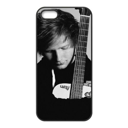 Ed Sheeran 001 2 coque iPhone 5 5S cellulaire cas coque de téléphone cas téléphone cellulaire noir couvercle EOKXLLNCD23386