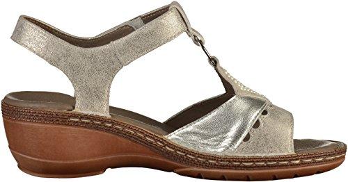 silber Sandals ara UK 4 11 Sasso West Zinn T Bar Key Grey Blue Women's w1Cqx1XrP