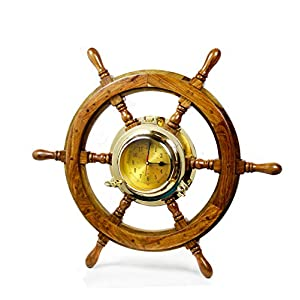 41A1cQWH4iL._SS300_ Best Ship Wheel Clocks