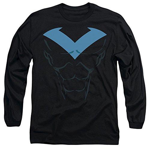 Batman DC Comics Nightwing Costume Adult Long Sleeve T-Shirt Tee - New Batman Affleck Costume