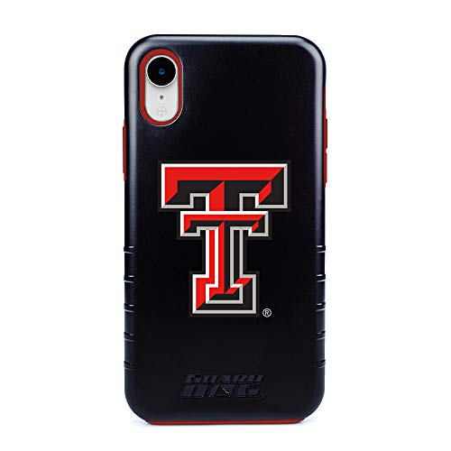 Raiders Red Tech Texas Rubber - Guard Dog Texas Tech Red Raiders - Hybrid Case for iPhone XR - Black