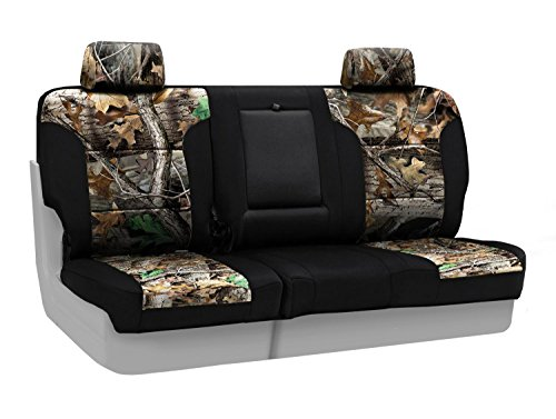 - Coverking Front 60/40 Bench Custom Fit Seat Cover for Select Toyota Tacoma Models - Neosupreme (Realtree Advantage Timber Camo with Black Sides)