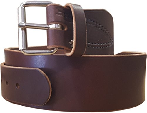 Tool Belt - 3 Inch Width - Full Grain 16 oz Leather - One Piece Construction (Standard 3)