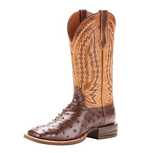 ARIAT Men's Relentless Platinum Western Boot Tabacco Full Quill Ostrich Size 13 M Us