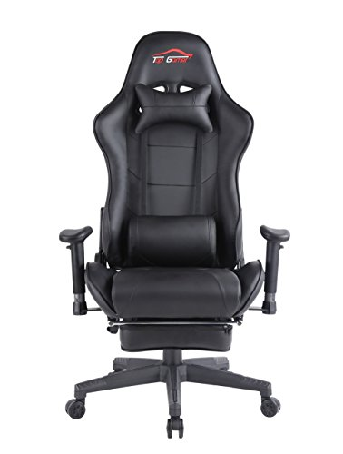 Top Gamer Gaming Chair PC Computer Game Chairs Video Game (Black-05) Top Gamer