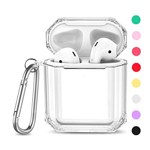 MioHHR Case for AirPods 1&2, 360° Full Protective Dustproof TPU Clear Cute AirPods Case Cover for Apple AirPod Cases for…