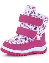 CIOR Boy & Girls Snow Boots Winter Outdoor Waterproof Fur Lined Shoes (Toddler/Little Kid/Big Kid)