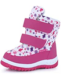 Boy & Girls Snow Boots Winter Outdoor Waterproof Fur...