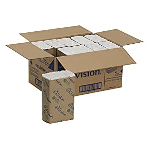 """Georgia-Pacific Envision 25190 White C-Fold Paper Towel, 13.2"""" Length x 10.1"""" Width (Case of 10 Packs, 240 per Pack)"""