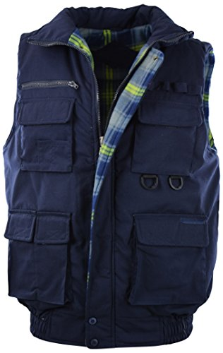 ChoiceApparel Mens Basic Padded Windbreaker Puffer Vests (Many Styles to Choose from) (M, 1322-NAVY) ()
