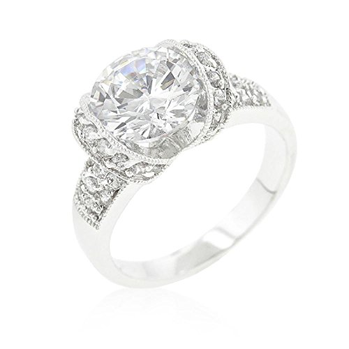 (FB Jewels Solid Tension Set Cubic Zirconia Engagement Ring)