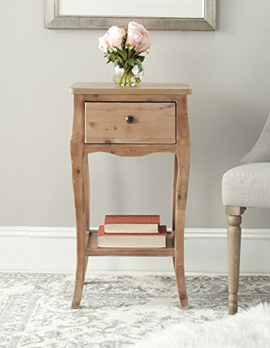 Safavieh American Homes Collection Thelma End Table - The natural wood finish of this end table will create a perfect accent to your home Crafted of sturdy fir wood Perfect for living room, family room, den, library, or study; Always use felt pads under all articles to prevent discoloration or softening of lacquer - living-room-furniture, living-room, end-tables - 41A1dikSUOL -