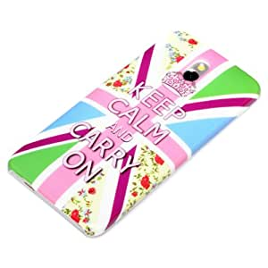 deinPhone Keep Calm And Carry On - Carcasa para HTC One Mini M4, multicolor