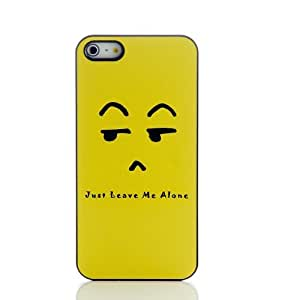 LIFE-SERIE Just Leave Me Alone Heavy Duty Hard Back Cover Case for Iphone 5 5s 5g & Free LCD Film Touch Pen