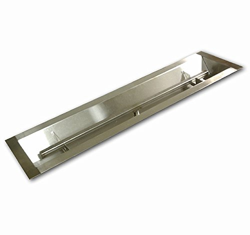 American Fireglass Stainless Steel Linear Drop-In Fire Pit Pan and Burner, 30 by 6-Inch by American Fireglass