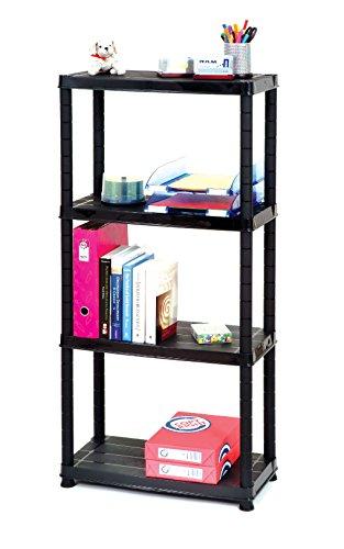 Shelves 4 tier 12 inch Light Duty Shelf Plastic Shelving Unit