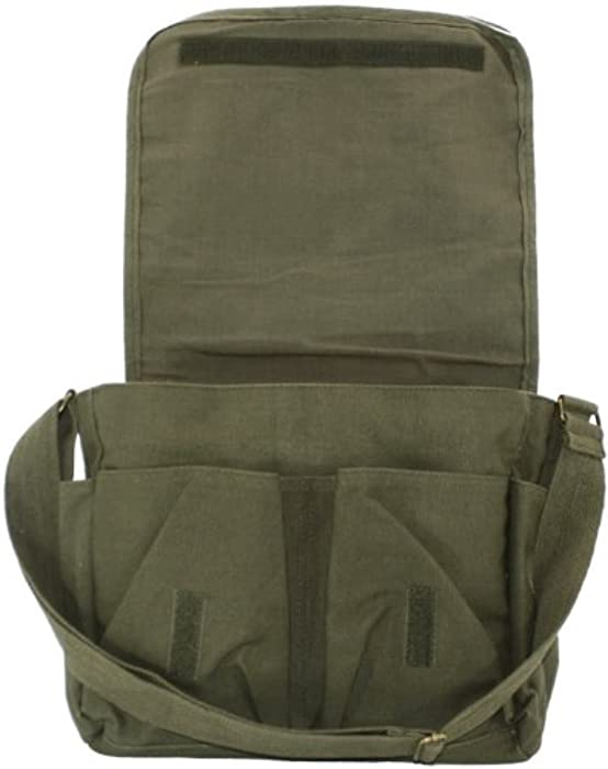 Olive Green Original Heavyweight Classic Military Messenger Bag with Army  Universe Pin 11d20e3bd29