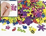 500 Assorted Bug Shape Foam Self-Adhesive Craft Stickers