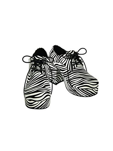 Mens Pimp Platform Zebra Shoes (10/11) -