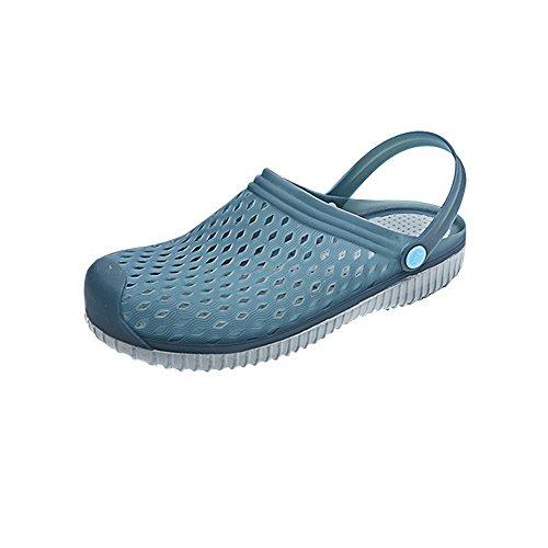 Eastlion Unisex Summer Breathable Clogs Garden Slippers Beach Sandals Pool Shoes Dark Blue 1