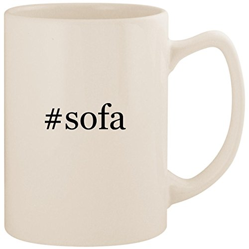 (#sofa - White Hashtag 14oz Ceramic Statesman Coffee Mug Cup)