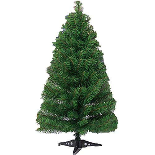 FANRENYOU 1PCS 90Cm Colorful Plastic Christmas Tree Decoration Ornament Artificial Tree Green (9' Green Accent Plate)