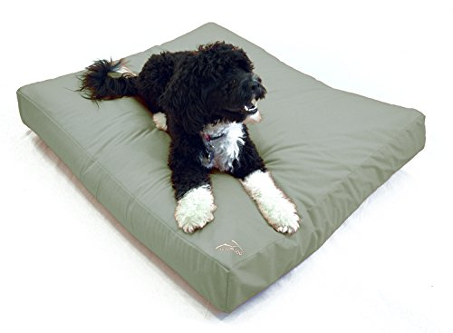 Best Waterproof DIY Replacement Dog Bed Cover; Washable Hypoallergenic Made in USA (Heather Gray, Medium/Large; 36 x 30 x 4)