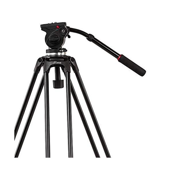 RetinaPix HIFFIN HF-606 Carbon Fiber DV Video Professional Tripod with Fluid Head and Spreader Leg