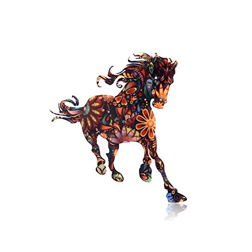 051029eb81b 1 · MISSU JEWELLRY Individuality Animals Acrylic Brooch Pin Colorful Unisex  Dress Decorations Brooch Jewelry (Horse)