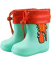 AIEOE Baby jongens meisjes regenlaarzen antislip EVA zool waterdichte schoenen 1-8 jaar
