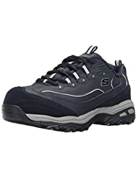 Skechers for Work Women's D'Lites Slip-Resistant Pooler Work Shoe