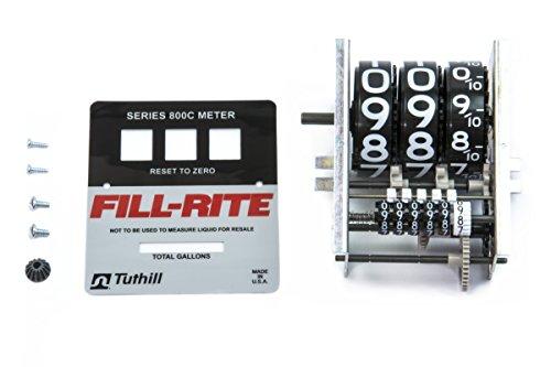 (Fill-Rite KIT800GR Kit, 800 Series Gallon Register & Faceplate)