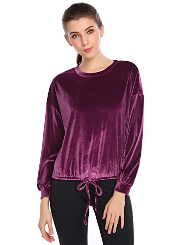 Velour Blouse Top - 1