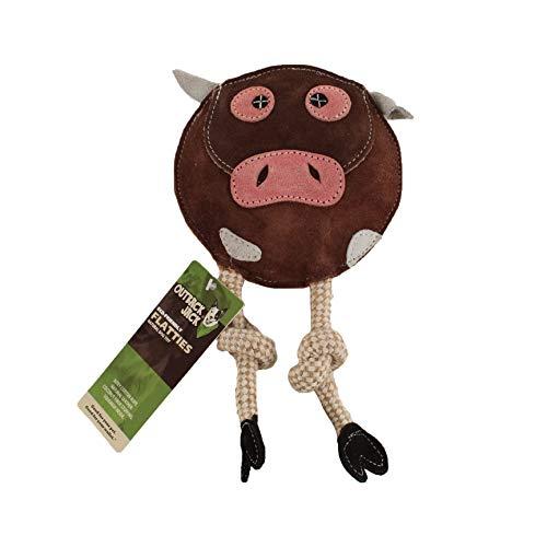 Outback Jack Flatties Cow Eco Friendly Dog Toy